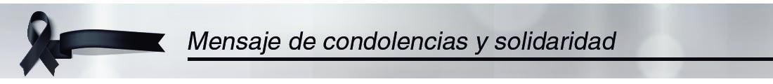 Condolencias 8 julio 2020